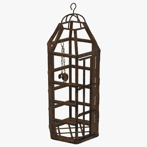 3d medieval cage
