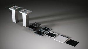 3d set kitchen appliances