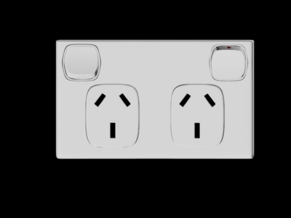 3d model australian wall socket