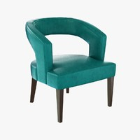 3d chair blue interiors