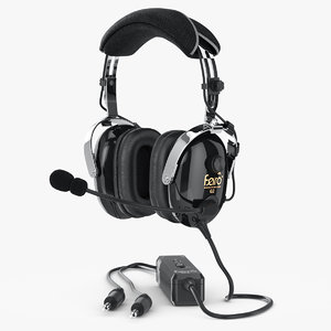 3d model headphones aviation