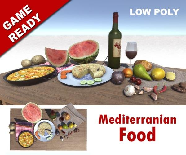 3d food fruit vegetables