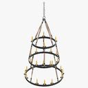 candle chandelier 3D models