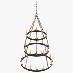 candle chandelier 02 3d max