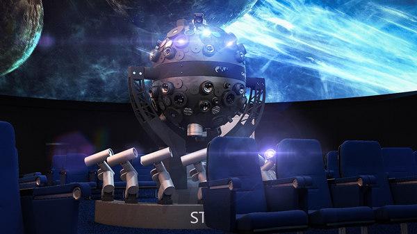 3d model planetarium projector