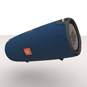 jbl xtreme blue bluetooth 3d model