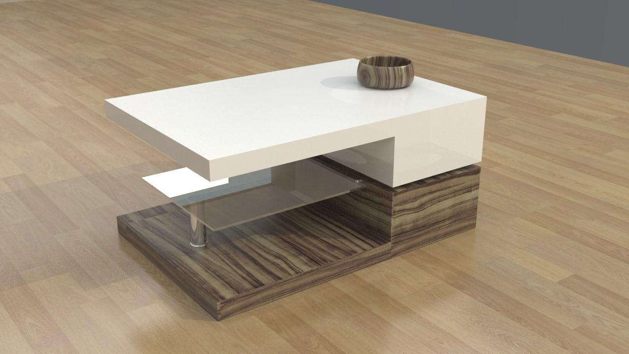 3d model bridgetown coffee table v2