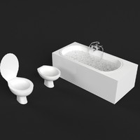 bathroom set 3d max