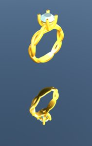 3d designer jewelry model