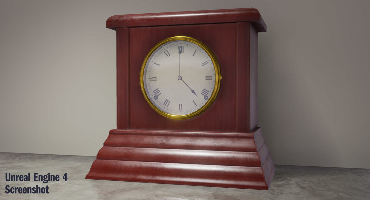 3d model mantel clock