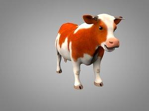 3d bull cow model