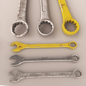 3d model wrench tool key 2
