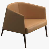 3d avenue road jackie lounge chair model