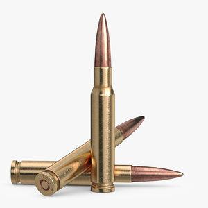 3d bullet rifle model