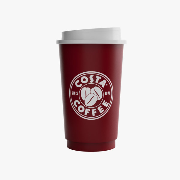 3d costa coffee paper cup