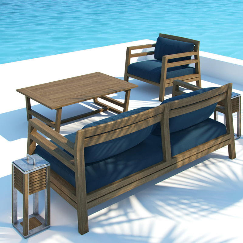 Outdoor furniture costes table lamp 3d model for Outdoor furniture 3d model