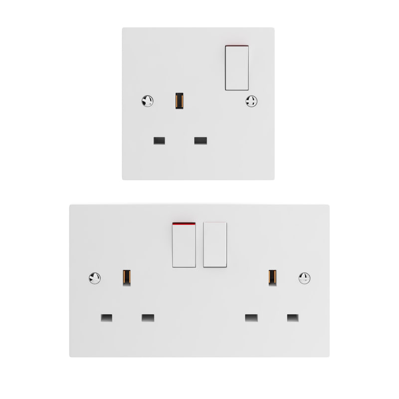uk wall outlet single max