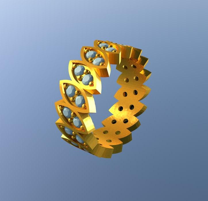 3d model print designer jewelry