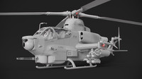 Bell AH-1Z Viper Attack Helicopter Model Only
