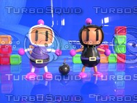 3d model of cartoon bomberman