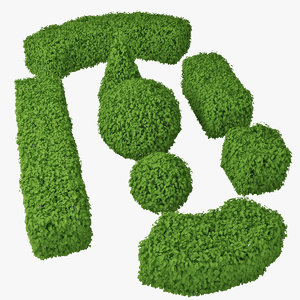 hedge 3d model