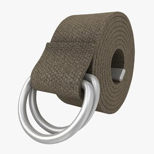 3ds realistic d-ring belt gray