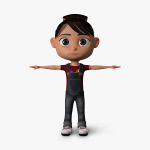 cartoon kid 3d model