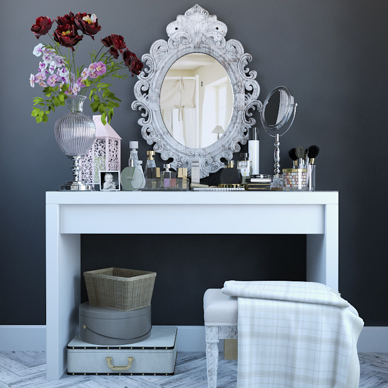 3d model dressing table decor