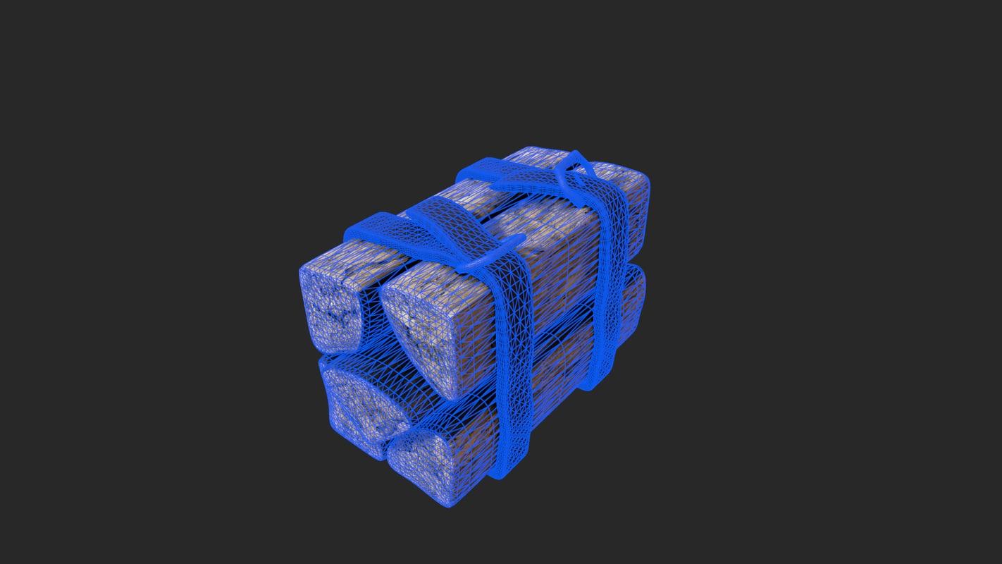 3d model stack wood