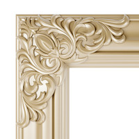 Frame with carved corners
