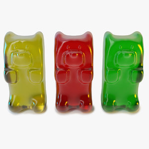3d model gummy bear