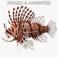 3d model spotfin lionfish