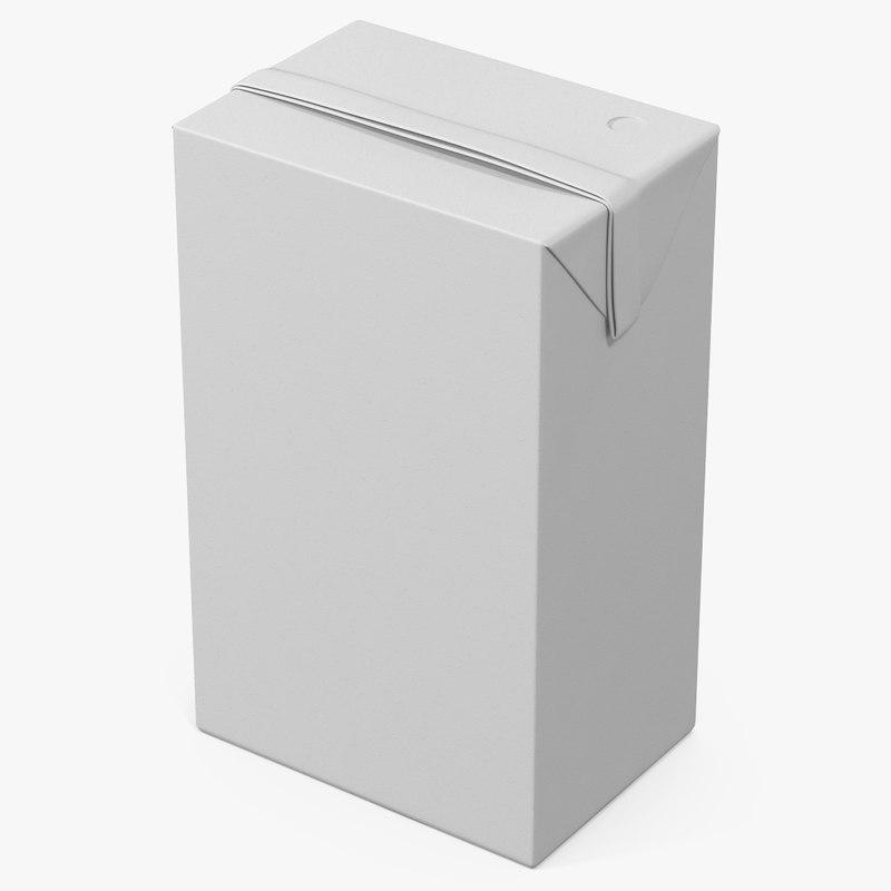 3d model juice packaging 1