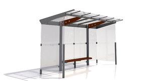 mmcite regio 310a bus shelter 3d model