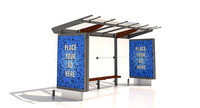 3d mmcite regio 310c bus shelter model