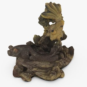 scan chinese fish statue 3d model