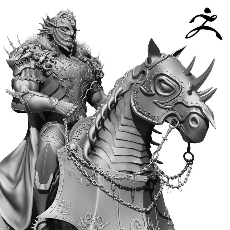 3d model horseman zbrush
