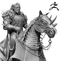 3d horseman zbrush model