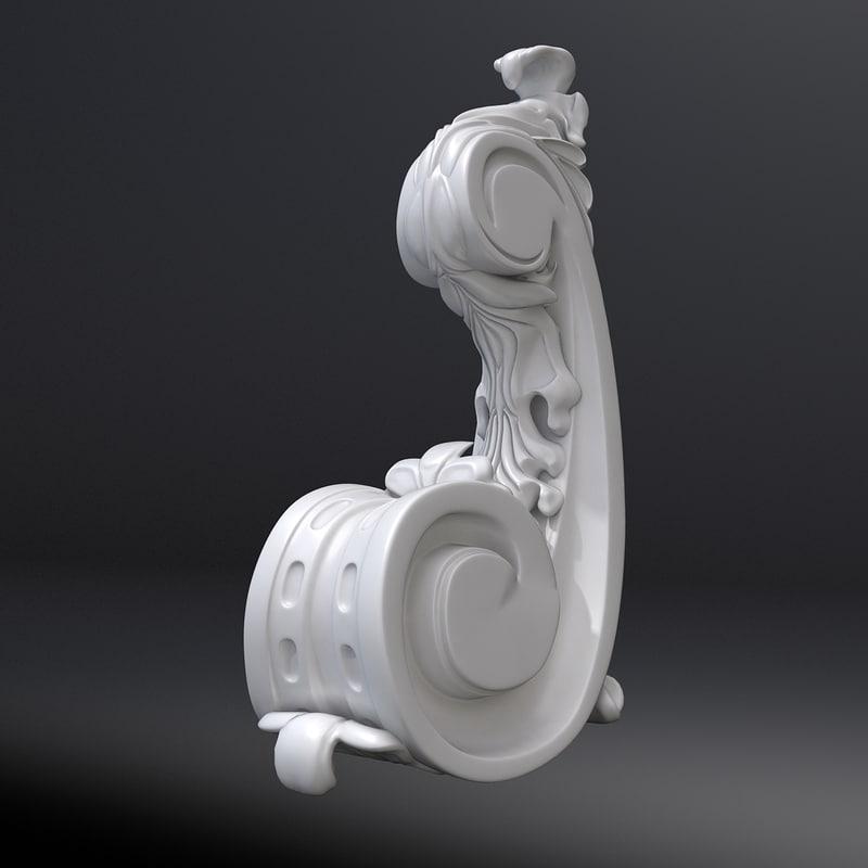 3d corbel 15 model