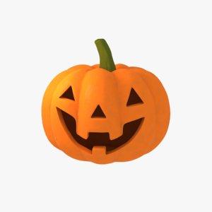 3d obj halloween pumpkin jack-o-lantern