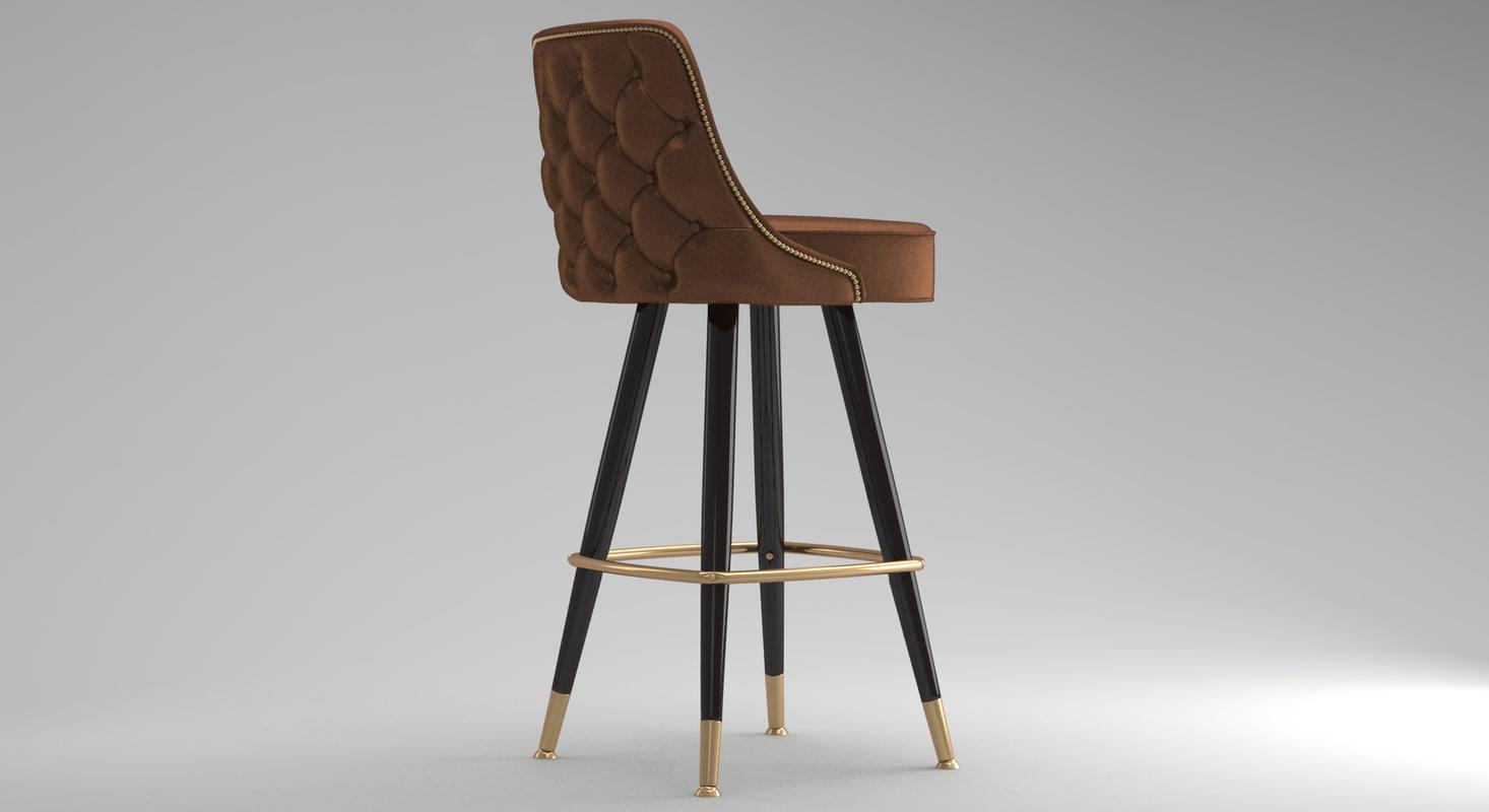 3d model bar stool 03