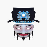 3d model of mask chinese