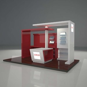 display stand 3d max