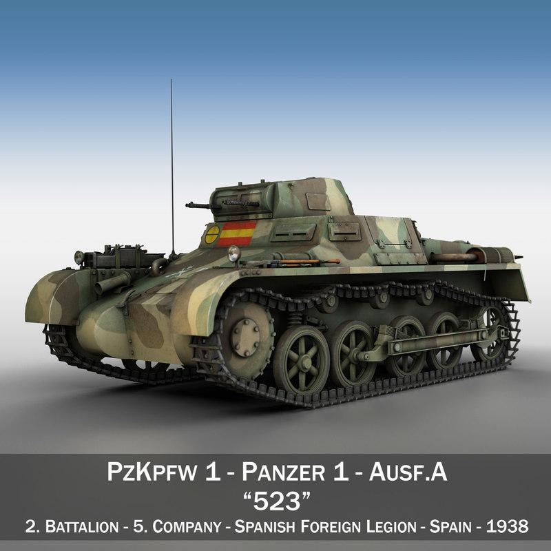 3d pzkpfw 1a - tanks