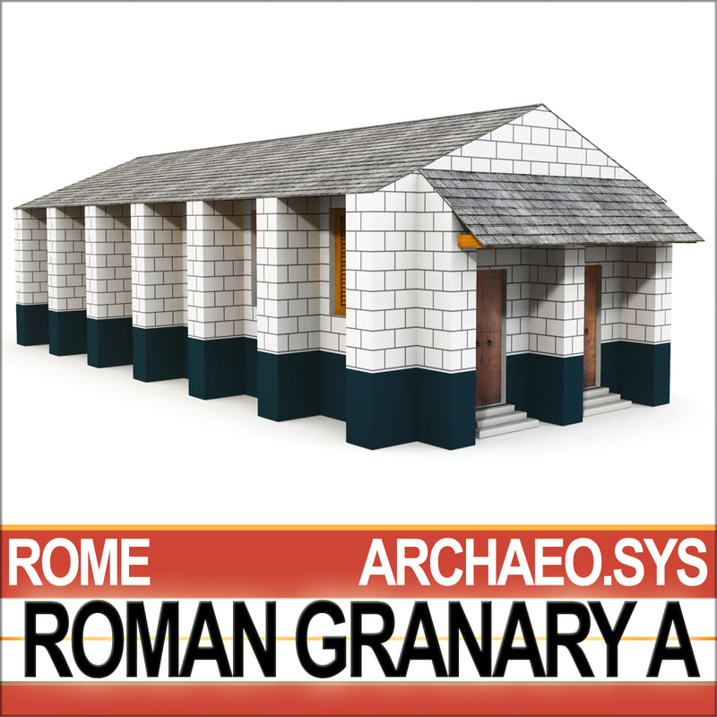 ancient roman granary 3d 3ds