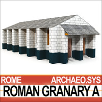 ancient roman granary 3d 3ds