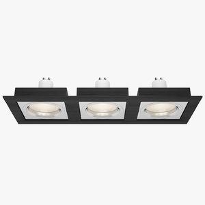 3d downlight spotlight light
