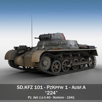 3dsmax - panzerkampfwagen 1 ausf