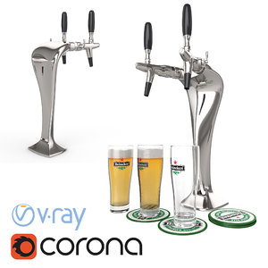 3d model cobra beer scene renders
