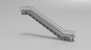 escalator building 3d model
